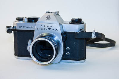 Pentax Spotmatic SPii This camera was introduced in 1971. It featured match needle metering, depth of field preview, and was the last camera I purchased which used screw-mount lenses.