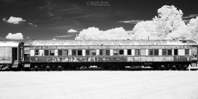 Derelict Train Car -- Infrared