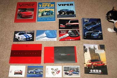 Viper books, press kits, postcards, glove box stuffers.