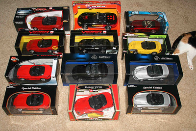 Large Gen III Viper convertible diecasts, remote control car, and battery operated.