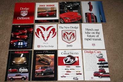 Dodge full line brochures with viper.