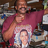 Kaunda, our good friend, shows off his Obama shirt on Inauguration Day.