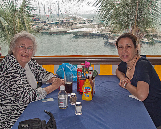 Mary, Carol and I took a special lunch, together, no guys, at Leverick Bay.