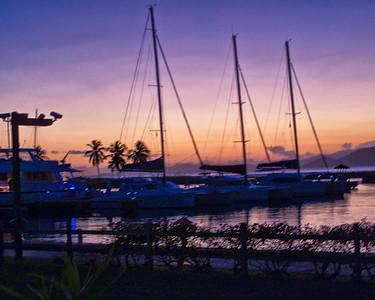 Spanish Town Marina at Sunset.