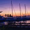 Spanish Town Marina at Sunset.
