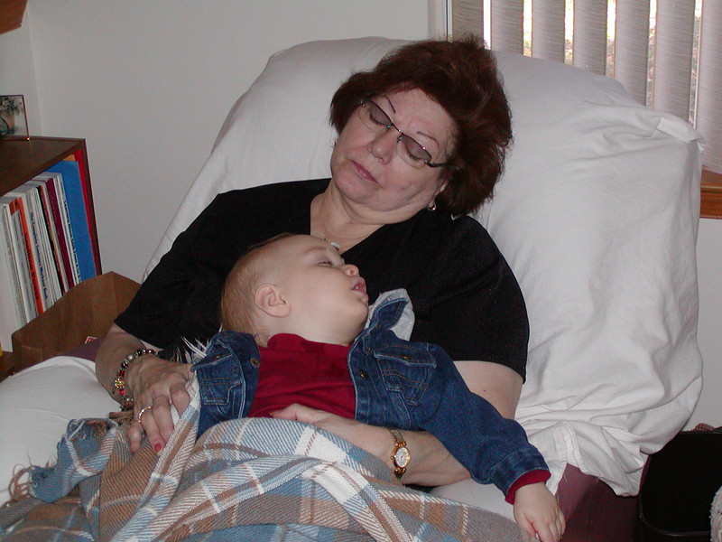 Grandma Jinny & baby Spencer ~ November 2002