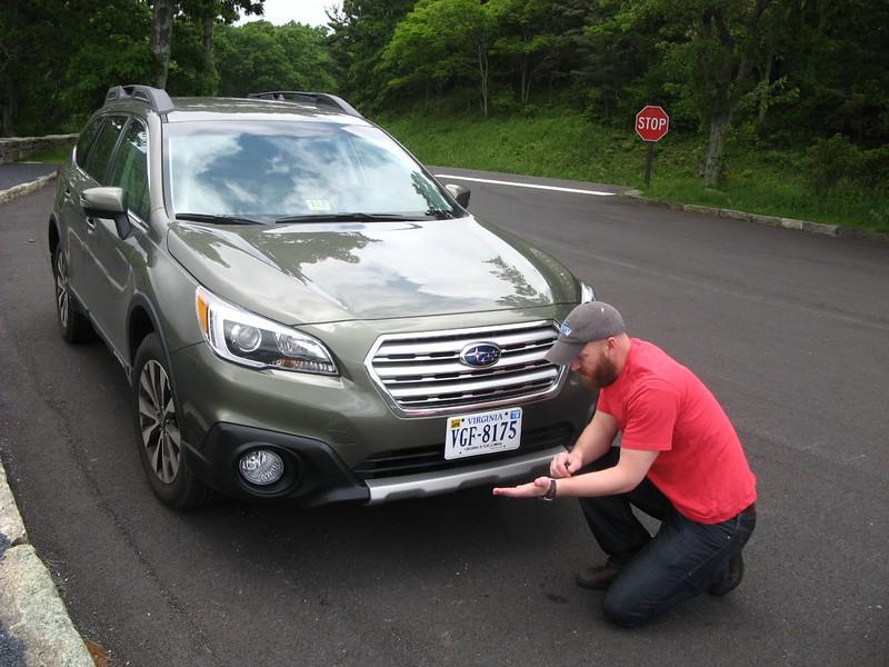 Explaining aerodynamics of the Subaru.