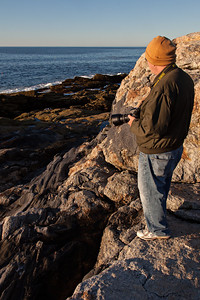 Bob, the real master photog of the area enjoying the view after dawn or contemplating a shot.
