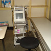 Inside Ultra Sound Scan room.A very tiny Ultra sound scan machine, the only one we have in the hospital.It is overworked , most time the gelly is not available.