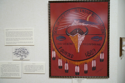 The official flag/seal of the Reservation.  There are two main tribes living there--the Gros-Ventre and the Assiniboine.