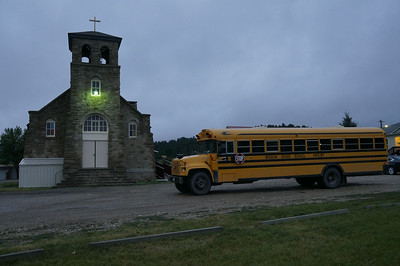 There is a K-6 school run by the Mission staff, including three sisters from the Dominican order and three Jesuit Volunteers.  The bus picks up students who go to school at the Mission, but also those who go to the reservation and off-reservation middle and high schools, and takes them to render-vous points with other buses.