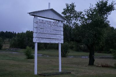 Sign on the Mission property