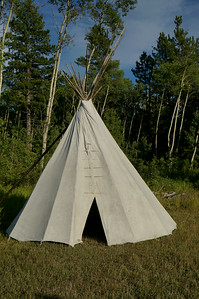 Someone forgot to take their tee pee down after the pow wow.