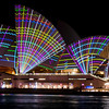 Vivid Sydney 2011,<br /> From the Passenger Terminal,<br /> Sydney.