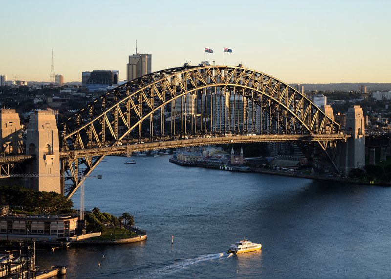 Sydney Harbour Bridge early morning.