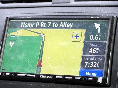 """We were disappointed that the GPS did not pronounce this street name """"Woo-so-mer P"""" :(."""
