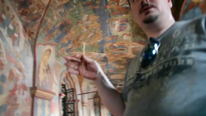 Евгений KABANCHIK: О росписях и типах краски в Ипатьевском монастыре (запретное видео!)