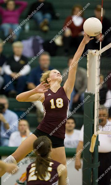 Bloomfield Hills Marion vs. Farmington Hills Mercy<br /> Girl's High School Volleyball<br /> 2008 MHSAA Regionals