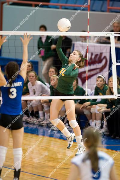 Calumet vs. Monroe St. Mary CC<br /> Girl's High School Volleyball<br /> 2008 MHSAA Class C Semifinals
