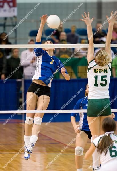 Bloomfield Hills Marian vs. Gross Pointe North<br /> Girl's High School Volleyball<br /> 2008 MHSAA Class A Semifinals