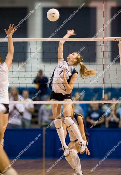 Battle Creek St. Philip vs. Bay City All Saints<br /> Girl's High School Volleyball<br /> 2008 MHSAA Class D Semifinals