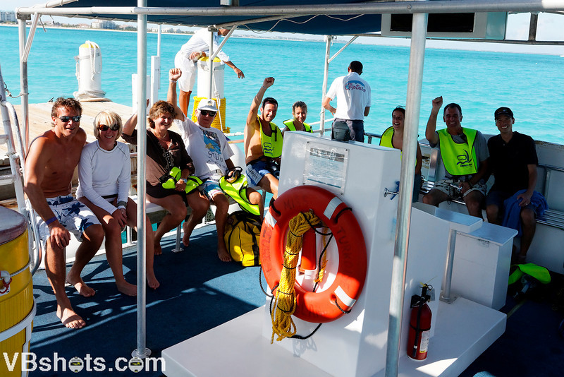 On the snorkeling boat!