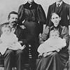 Back row: Katherine (Katie) Von Arx (married Willie Langen) and William Von Arx<br /> Sitting: Anton Jacob Von Arx and Katherine (Hinderberger) Von Arx  <br /> Babies: A.J. holding Mary Von Arx and Katherine holding JoeVon Arx (twins)