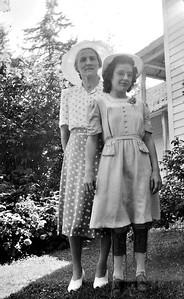 Mary Von Arx and Irene on Irene's confirmation day, June 1, 1941