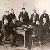Houston County Board.  Anton Jacob Von Arx front right center  (dark hair and watch chain)  - 1903