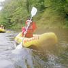 Rebecca paddling, Nantahala River