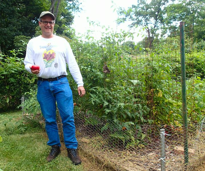 Vance With His Tomato Plants