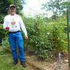 Vance With His Tomato Plants