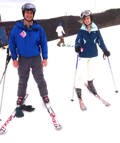 Vance and Rebecca Skiing