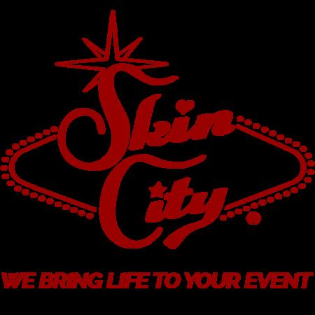 Skin City Logo Dark Red with Tagline