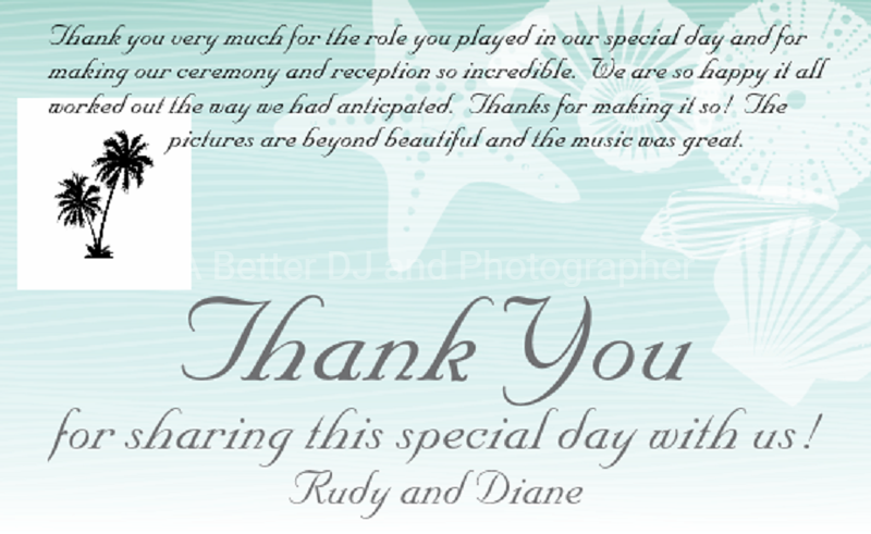 rudy Diane thank you