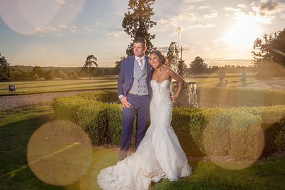 An amazing sunset at Gosfield Hall