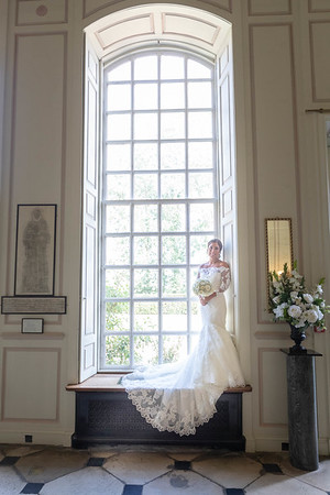 The bride at Gosfield hall