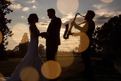 Its all about the sax - gosfield hall wedding photography