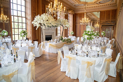 The grand wedding breakfast at Gosfield hall