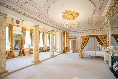 The bridal suite at Gosfield Hall