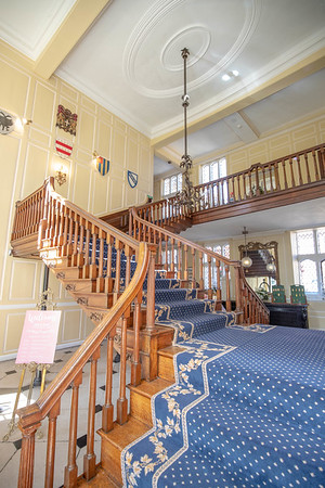 One of the amazing staircases at Gosfield Hall | wedding venue | wedding photographer