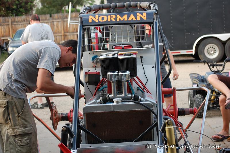 H J Norman 305 getting ready to race Dodge City Ks. @ BGA