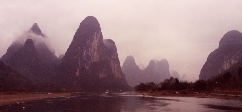 Moon Mountains- Colour- Guilin, China