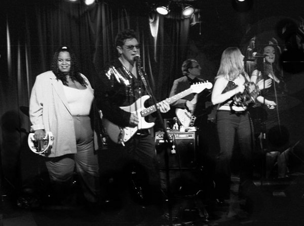 "Steve Marshall Band, ""Le Bar Bat Retaurant, New York City. Canon 7 camera, 0.95 Canon Lens-"