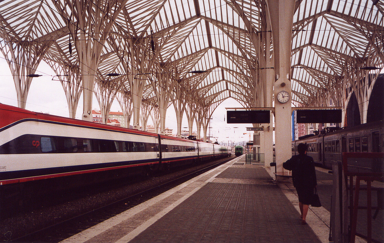 Railway station, Lisbon, Portugal