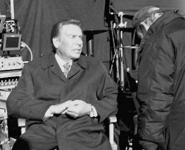 "The late Jerry Orbach, taking soome sun while shooting ""Law and Order"", New York City"