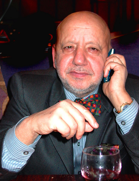 French businessman- Cellphone and wine-