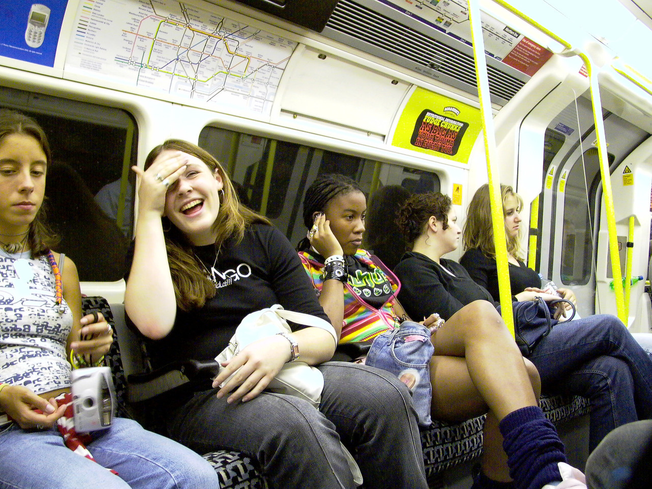 Riders, London Underground, (Subway).
