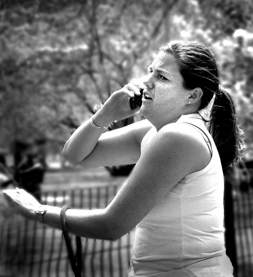 Anxious cellphoner