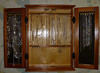Susan's necklase storage unit opened w/ hangers of various lengths and (of course) now almost completely filled - YIKES!